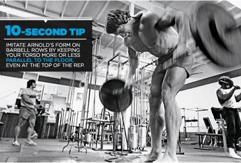 ARNOLD Training Tip Barbell Rows