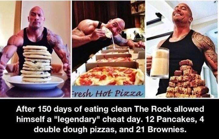 The Rock cheating day