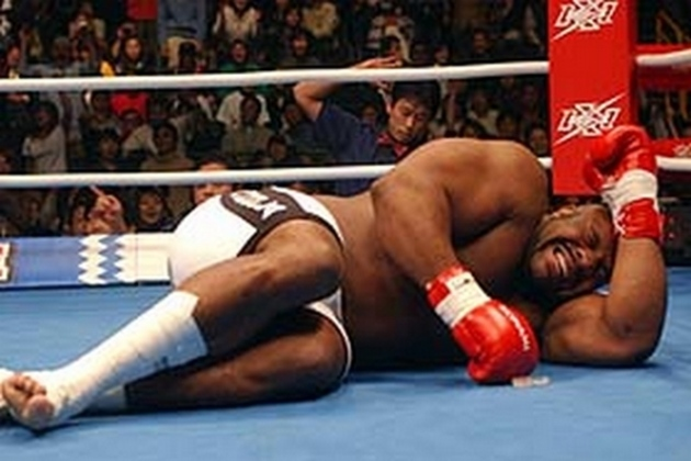 Bob Sapp is the worst tomato can in MMA