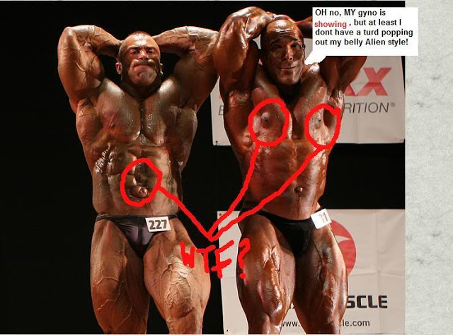 Bodybuilders Outty Belly Button