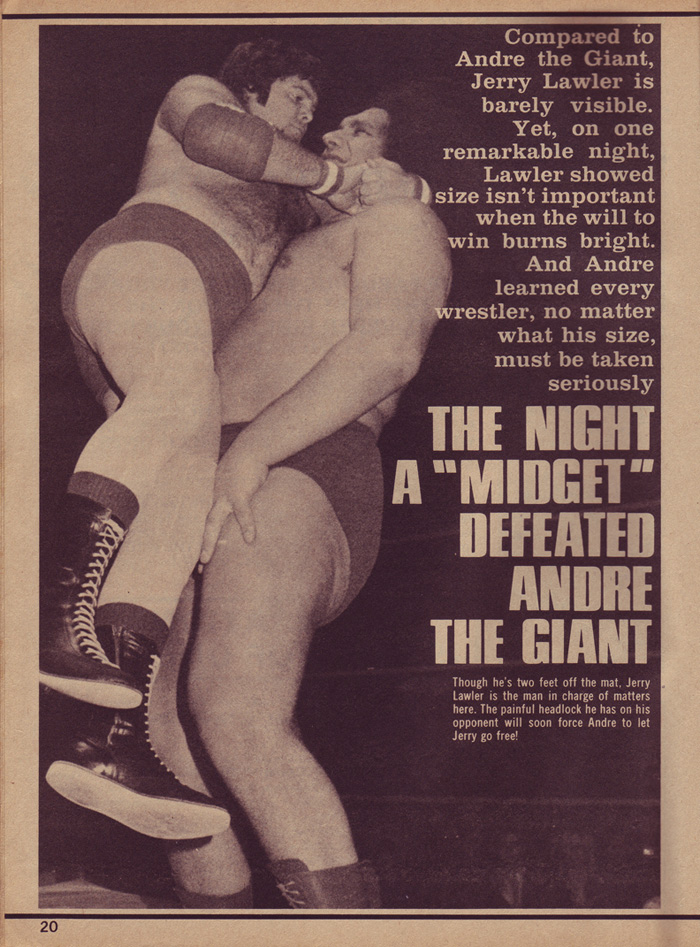 Jerry Lawler first man to beat Andre The Giant