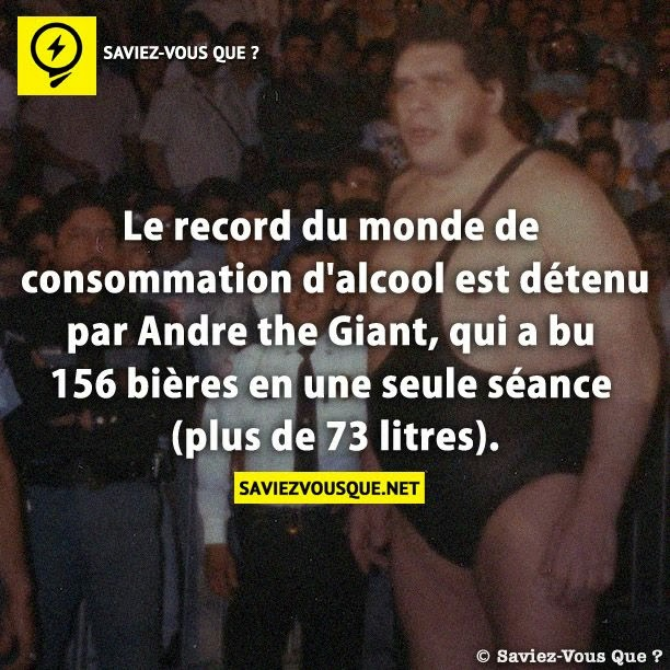 Andre the Giant greatest drunk drinking