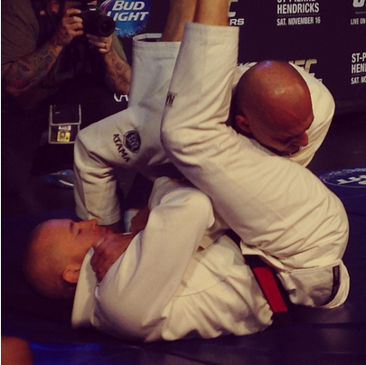 GSP sparring with Royce Gracie