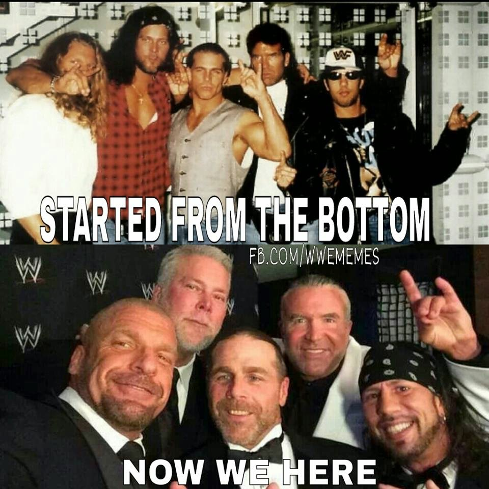 WWE The Kliq then and now