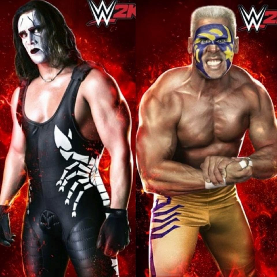 WCW Sting before and after