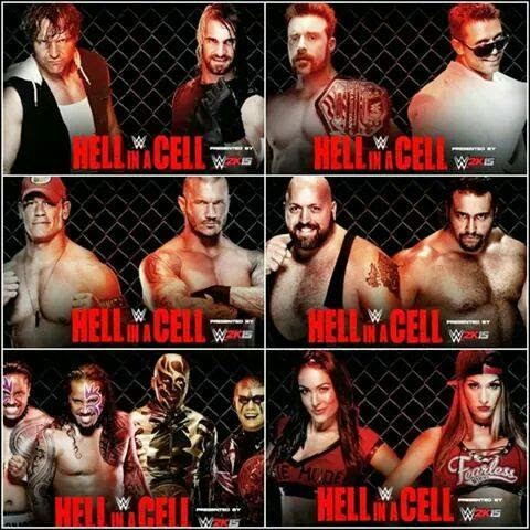 WWE Hell in a Cell 2014 Play-by-Play results
