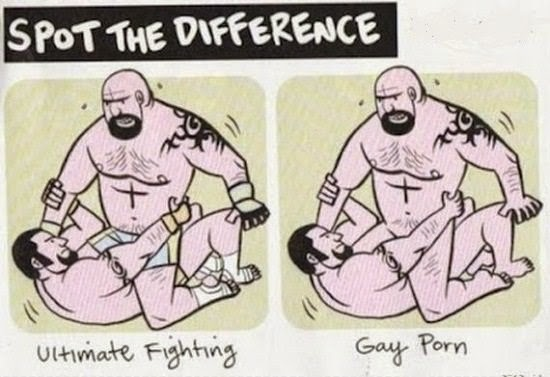 Ultimate Fighting could be Gay Porn