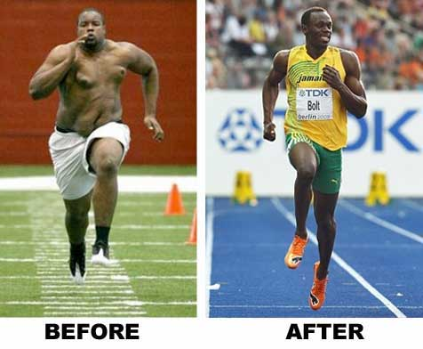 Usain Bolt Before & After Weight Loss