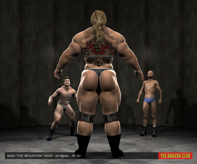 """Nina """"The Mountain"""" Haas 8ft 4in pit fighter"""