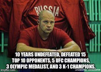 Fedor is the greatest