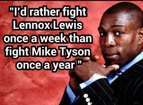 Frank Bruno on Mike Tyson and Lennox Lewis