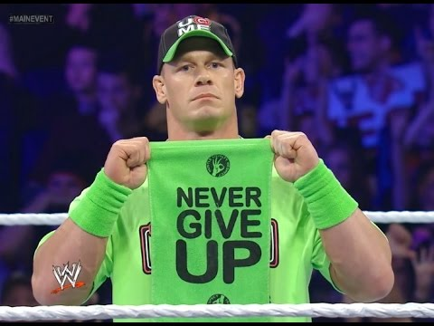 """""""NEVER GIVE UP"""" John Cena taps out 3 times"""