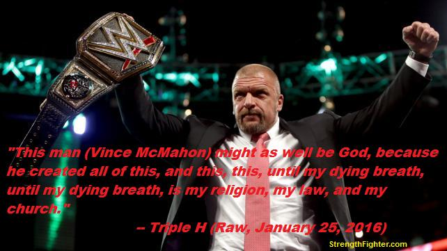 Vince McMahon is God, WWE is religion