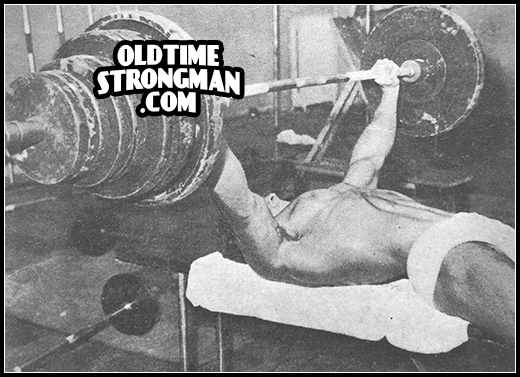 Marvin Eder bench press 430 lbs at 19 years of age