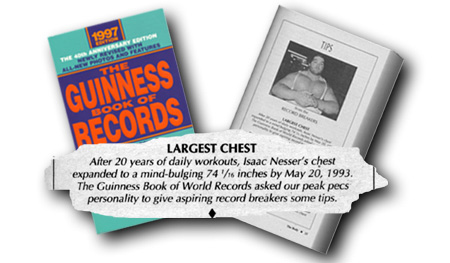 """Isaac """"Dr. Size"""" Nesser world record measurements"""