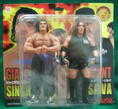 The Great Khali and Giant Silva action figures