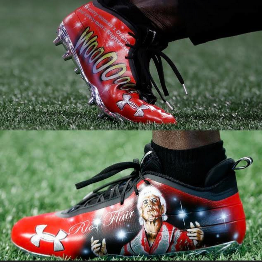 Ric Flair sneakers made for the NFL's Atlanta Falcons player Julio Jones