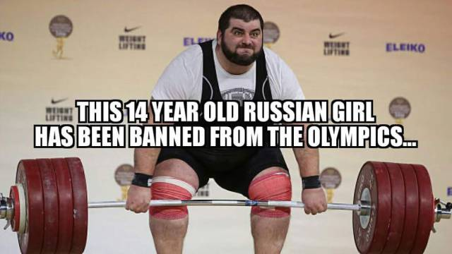 14 years old Russian girl banned from the Olympics