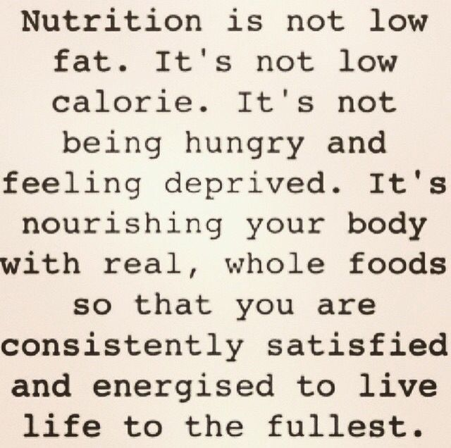 What nutrition should be